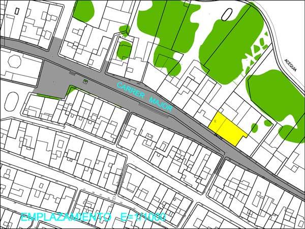 Emplazamiento calle mayor de Godella